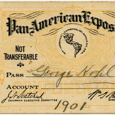 Admission ticket, Pan-American Exposition, 1901