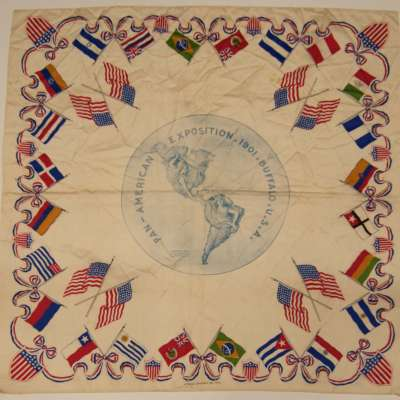 Silk handkerchief, souvenir of the Pan-American Exposition